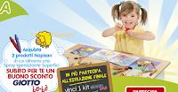 Logo Buono sconto sicuro e vinci ogni settimana 1 Kit Giotto Bébé con Napisan