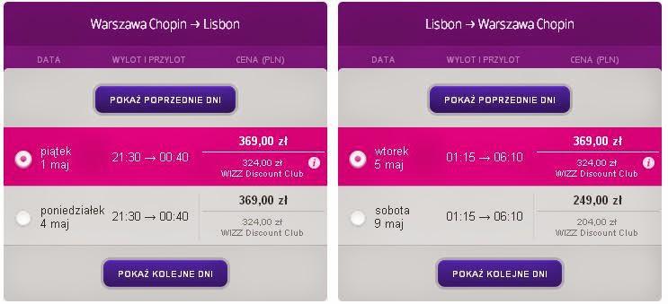 Tanie loty Warszawa Lizbona Wizz Air 2015