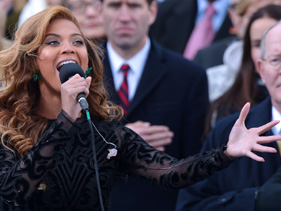 Beyonce Lip-Synced the National Anthem at Obama's Inauguration, Beyonce, lip synced