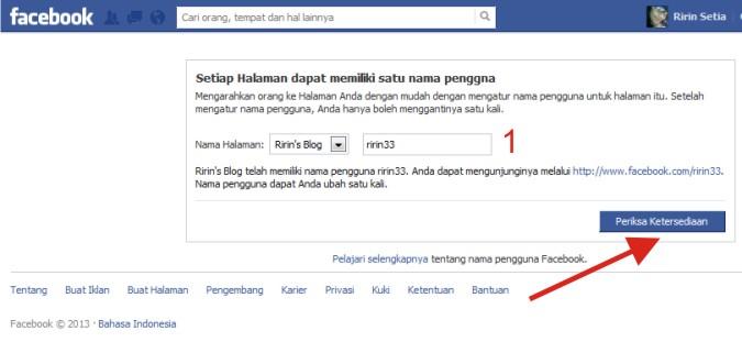 Cara Membuat Username Halaman Facebook