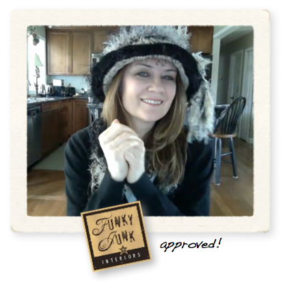 Hats by Peach, soft and cozy and so very warm! Review and giveaway event at Funky Junk Interiors