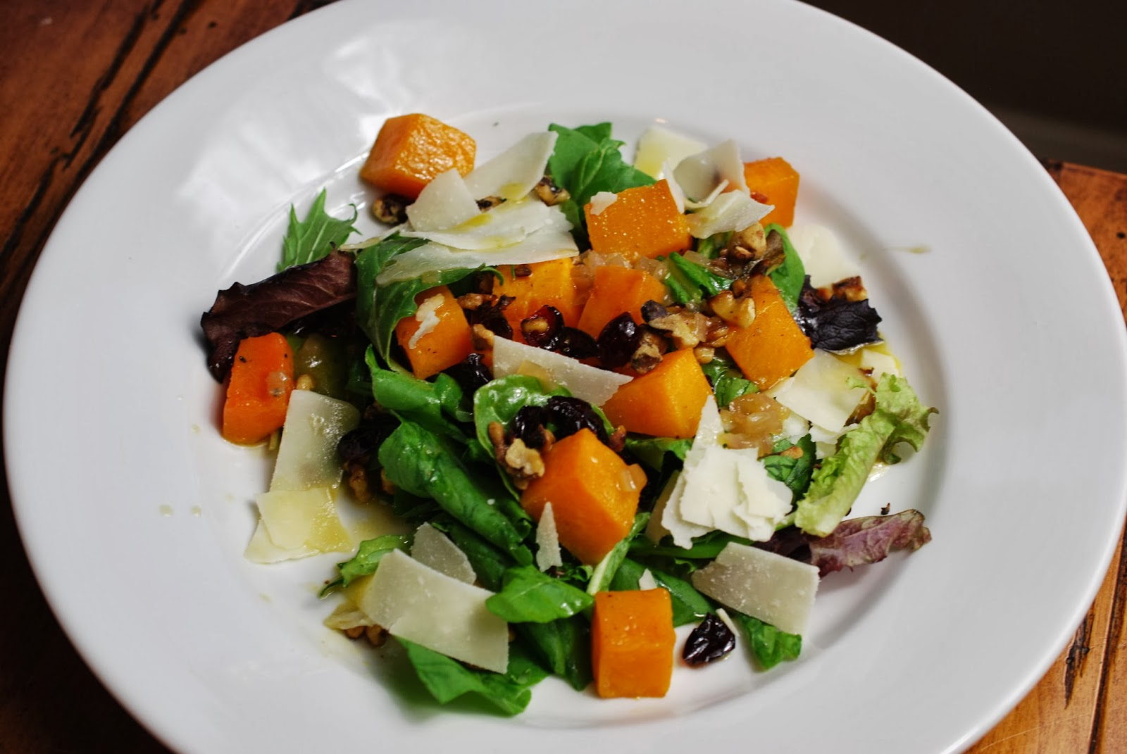 ... Roasted Butternut Squash & Arugula Salad with Warm Cider Vinaigrette