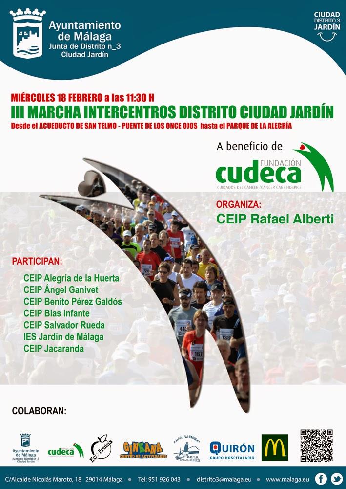Ceip rafael alberti m laga iv marcha intercentros en for Ceip ciudad jardin