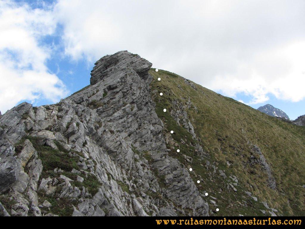 Ruta Tuiza Fariñentu Peña Chana: Llegando al Prau Albo