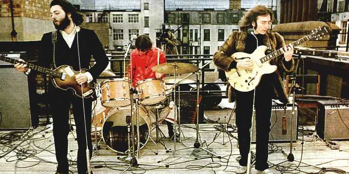 「ringo starr drum bass roof top」の画像検索結果