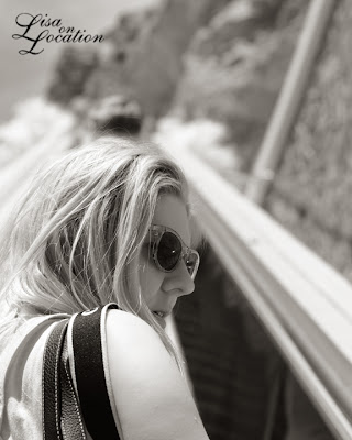 Hoover Dam, escalator, Lisa Blaschke, Lisa on Location, infrared, New Braunfels photographer