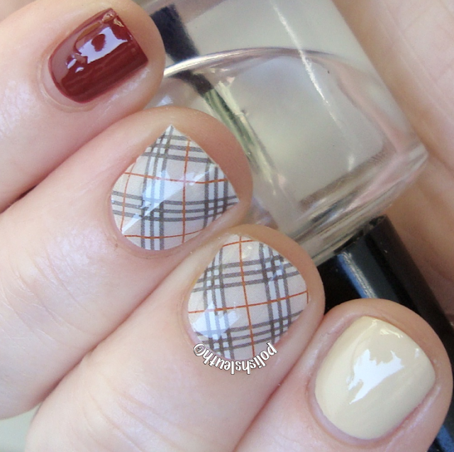 Jamberry 'Burberry' inspired  Nail Strips