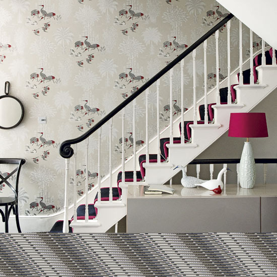 Wallpaper designs for walls wallpapers Hallway colour scheme ideas