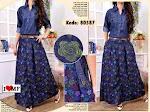 Baju Muslim Gamis Hanna Jeans MF222 HABIS