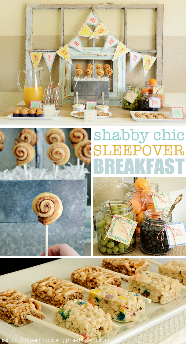 Shabby Chic Sleepover Easy Breakfast Ideas