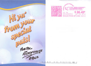 postcard from Mickey Mouse