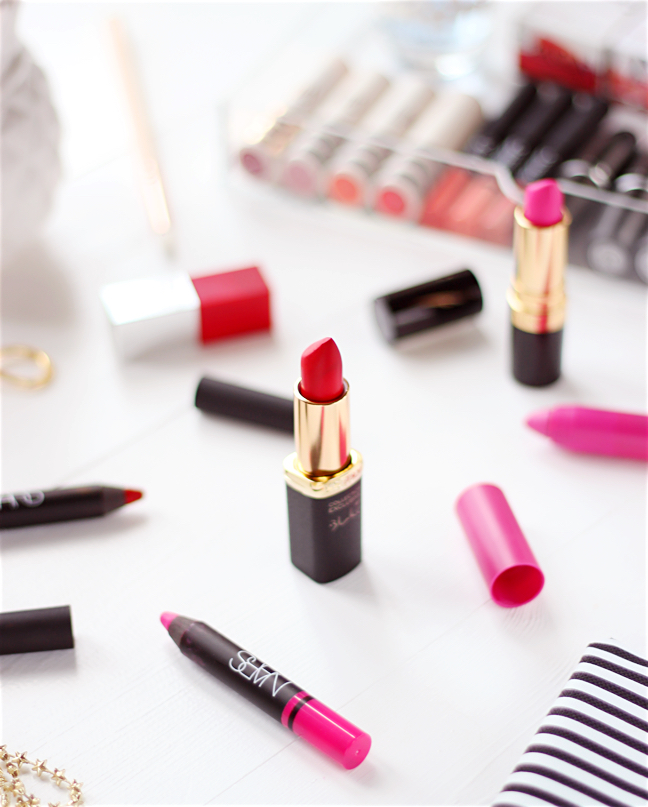 VALENTINES PINK & RED LIP PICKS