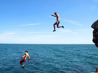 Constantin Gabor Cliff Jumping