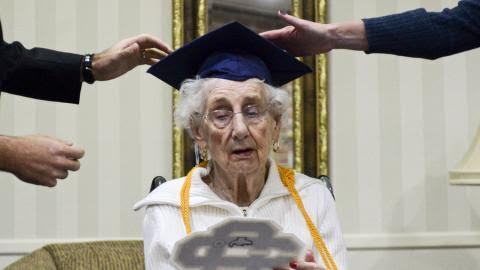 OMG!!! 97-year old woman receives high school diploma 80yrs after she was forced to drop out of school