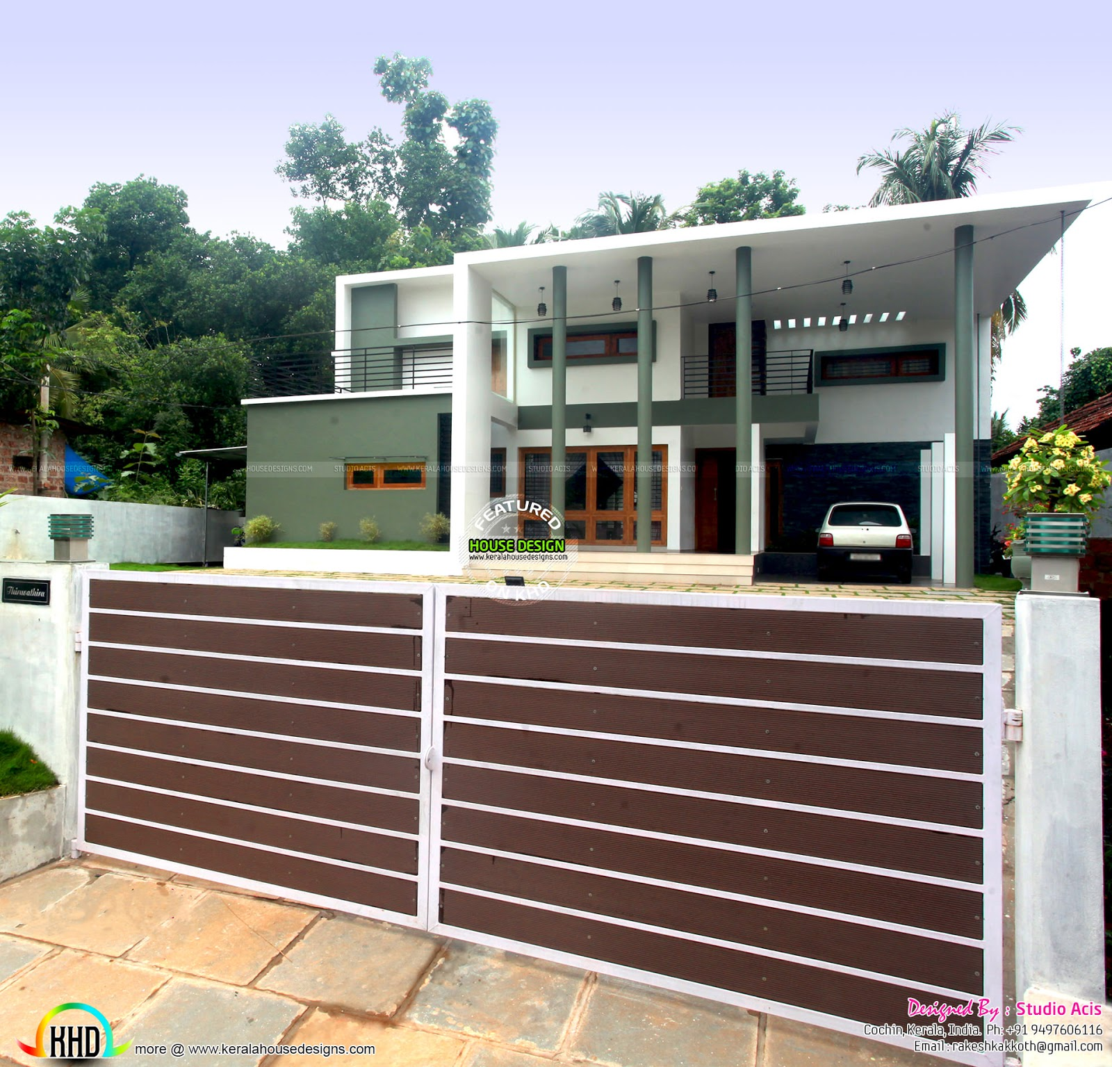 Finished House Project Kerala Home Design And Floor Plans