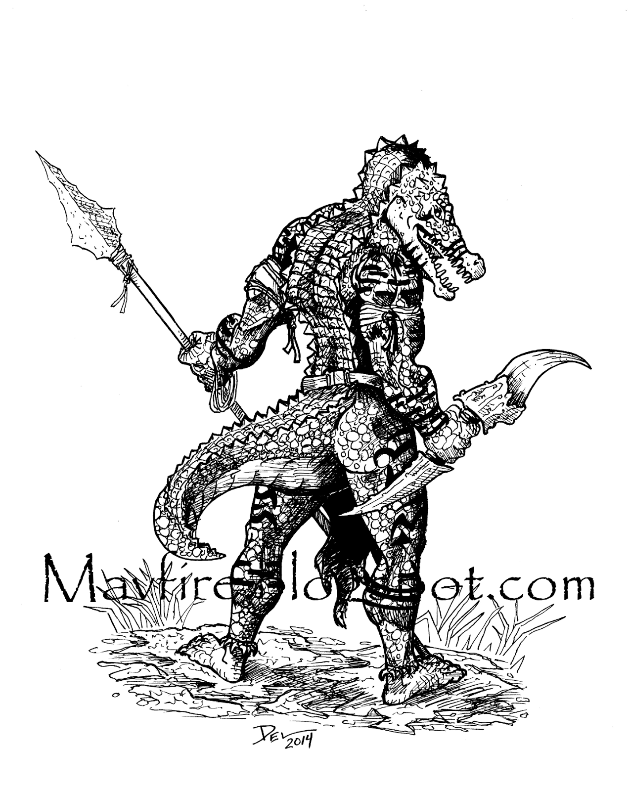 Common Gha'Vial, Del Teigeler, Mavfire, Creature, Monster, Aligator man