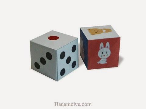 Cách gấp, xếp hộp xúc sắc bằng giấy origami - Video hướng dẫn xếp hình - How to make a Dice