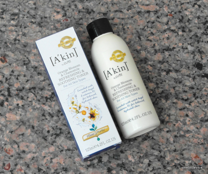 One Little Vice Beauty Blog: A'kin orange blossom and chamomile toner review