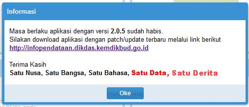daownload dapodik patch versi 2.06, cara instal dapodik versi terbaru 2.06. Instalasi dapodik versi 2.06