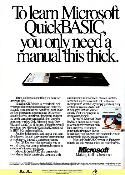 MS QuickBASIC 4.5 (1989)