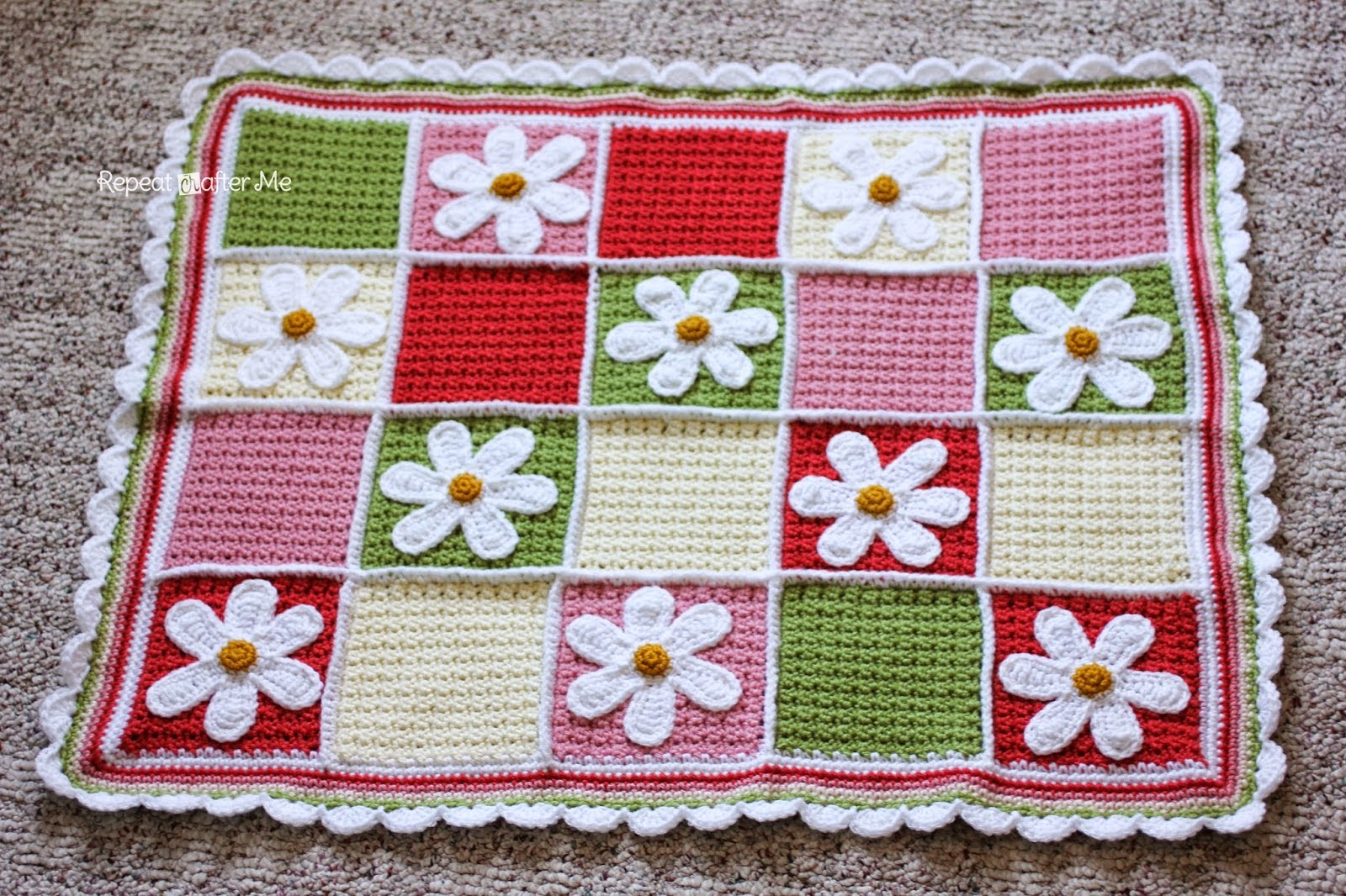 http://www.repeatcrafterme.com/2014/04/crochet-daisy-afghan.html