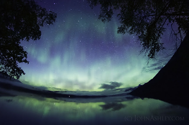 Northern lights in Glacier National Park (c) John Ashley