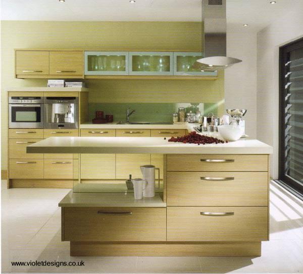 Arquitectura de casas decoraci n de cocinas modernas - Cocinas modernas alargadas ...