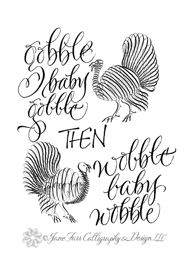 A Place To Flourish Calligraphy Flourish Friday Gobble