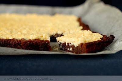 Čokoládovo-tvarohový koláčik