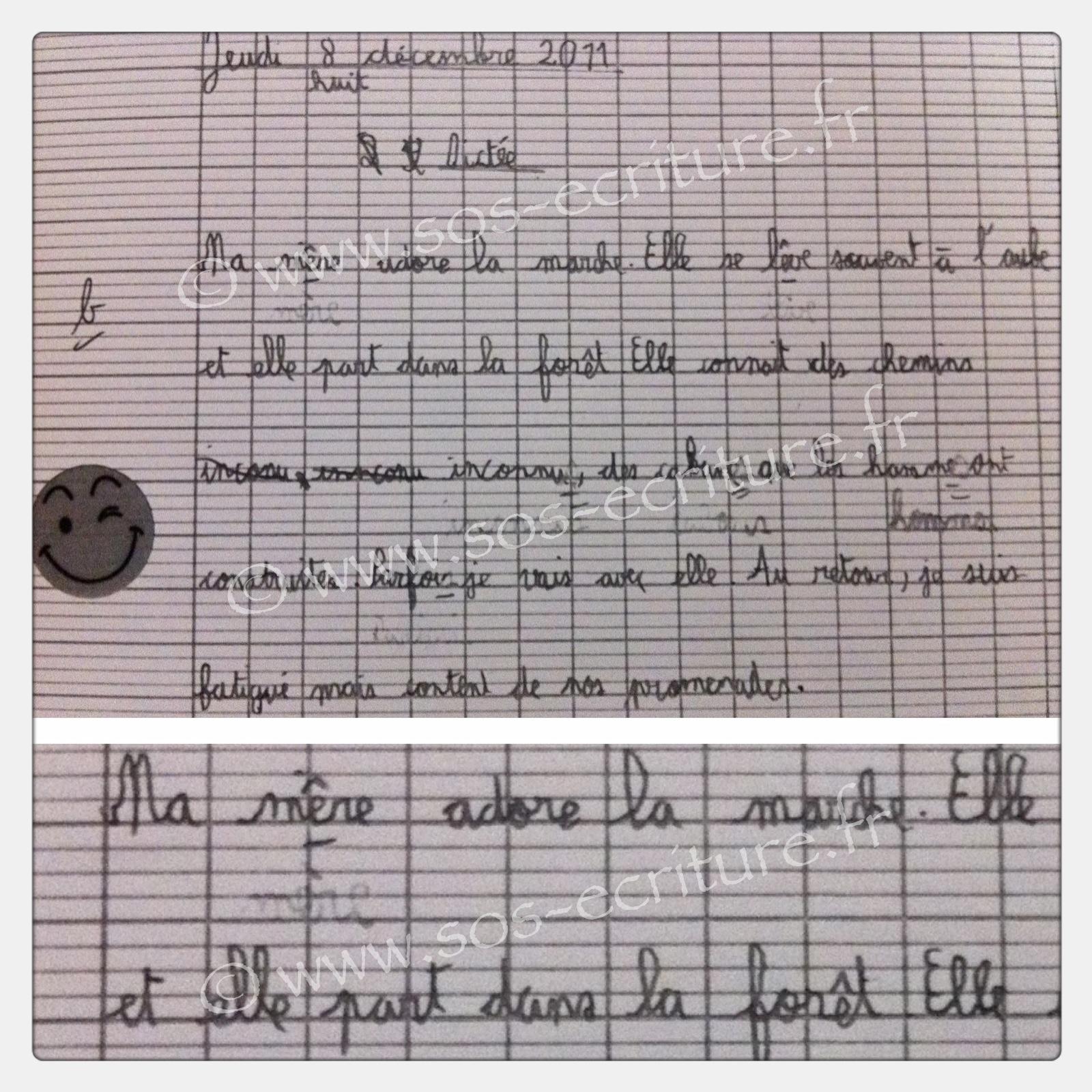 rééducation écriture cursive