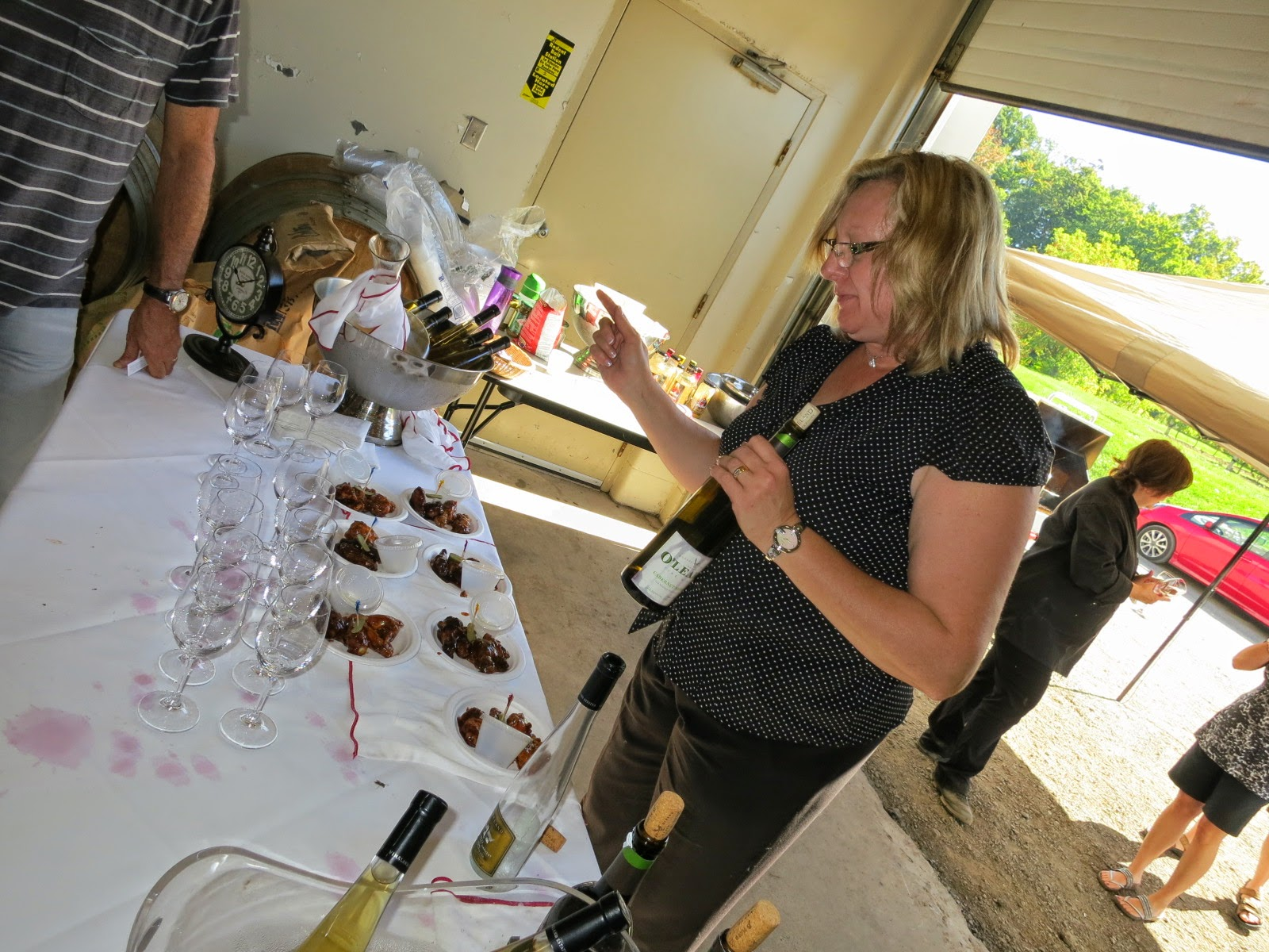 Pouring wine at Vineland Estates Winery