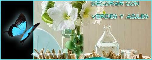 decoracion verde y azul