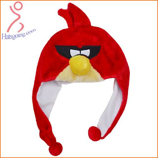 Red Space Angry Birds Hats