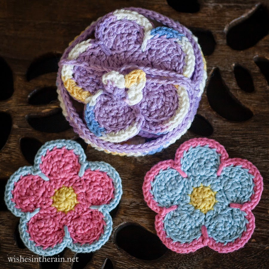 Free Pattern: Sunshine Flower Coasters | wishes in the rain