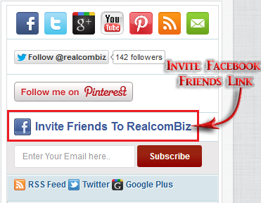 Facebook Invite Friends Link To Blogger Blog