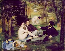 """""""Desayuno en la hierba"""" (Le Déjeuner sur l'Herbe) de Édouard Manet, 1863."""