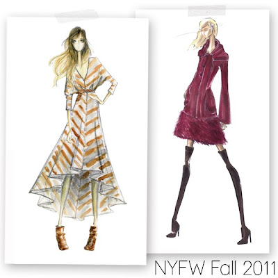 Fashion Jobs  2011 on Fabulous Doodles Brooke Hagel Fashion Illustration Blog  Fashion Week