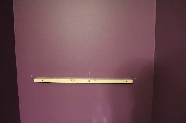 how to hang and level shelves