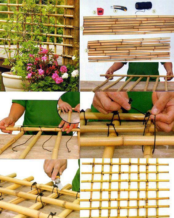 trelica bambu jardim : trelica bambu jardim:galhos ou outro material alternativo, crie o seu t ambém