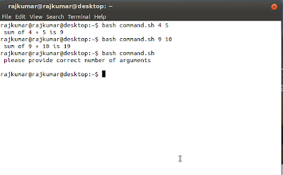 how to add command line argument in bash