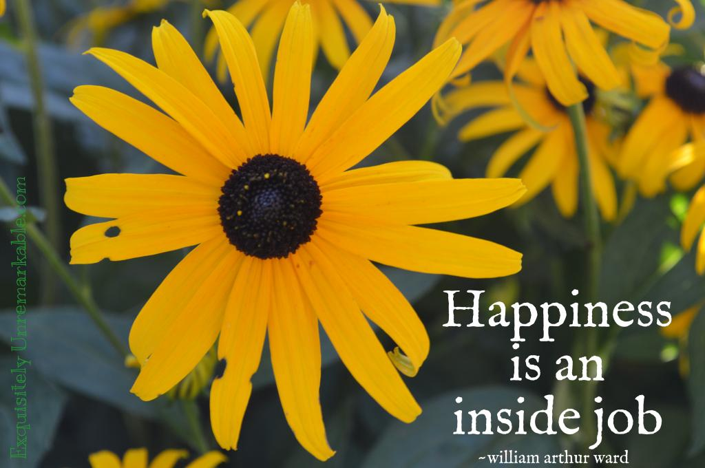 Happiness Is An Inside Job~ Quote Exquisitely Unremarkable