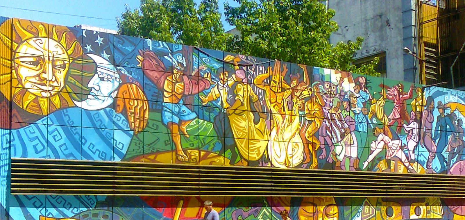 Murales en paredes exteriores materiales de construcci n for Materiales para pintar un mural