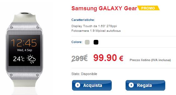 Samsung Galaxy Gear Smartwatch in TIM
