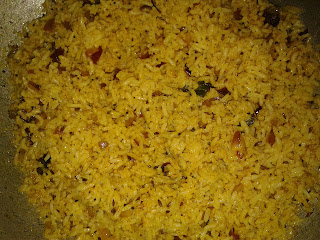 quick fried onion pulao with green chili