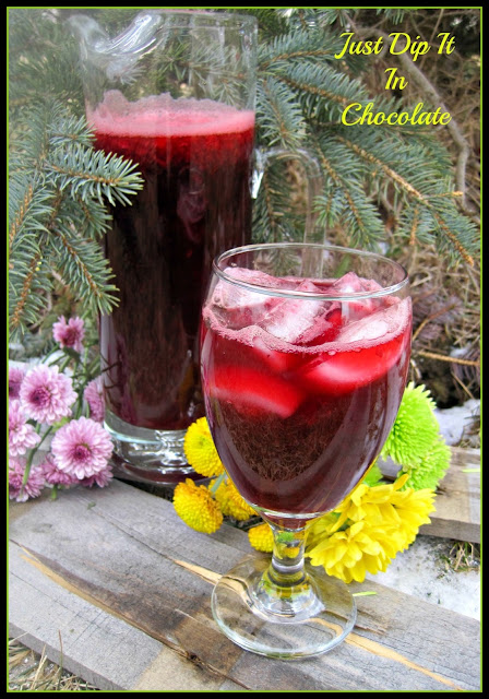 Very Berry Hibiscus Cooler, just like the one at the expensive coffee shop but even better, make more than 8 servings for only $3!
