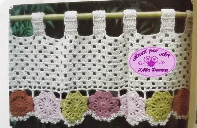 Bandô para Cortina em Crochê com Gráfico-Amor por Art em Crochê