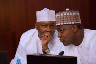 National Assembly: Legislative aides protest over unpaid allowance, faults Saraki, Dogara
