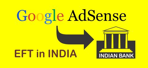 Google AdSense EFT in India