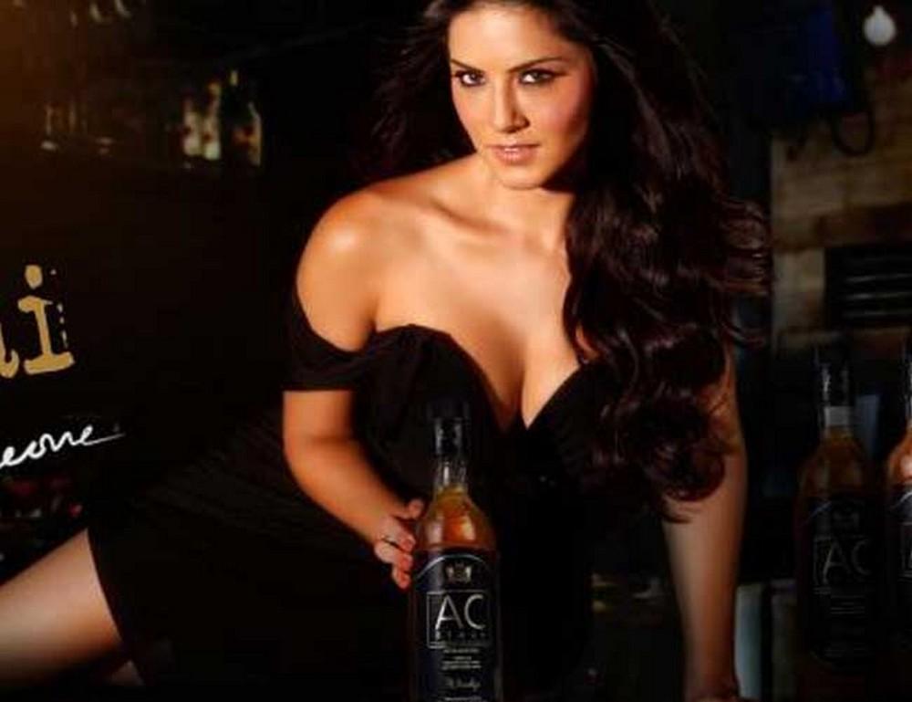 Exotic hot Sunny leone ac black wisky ad hot photo stills