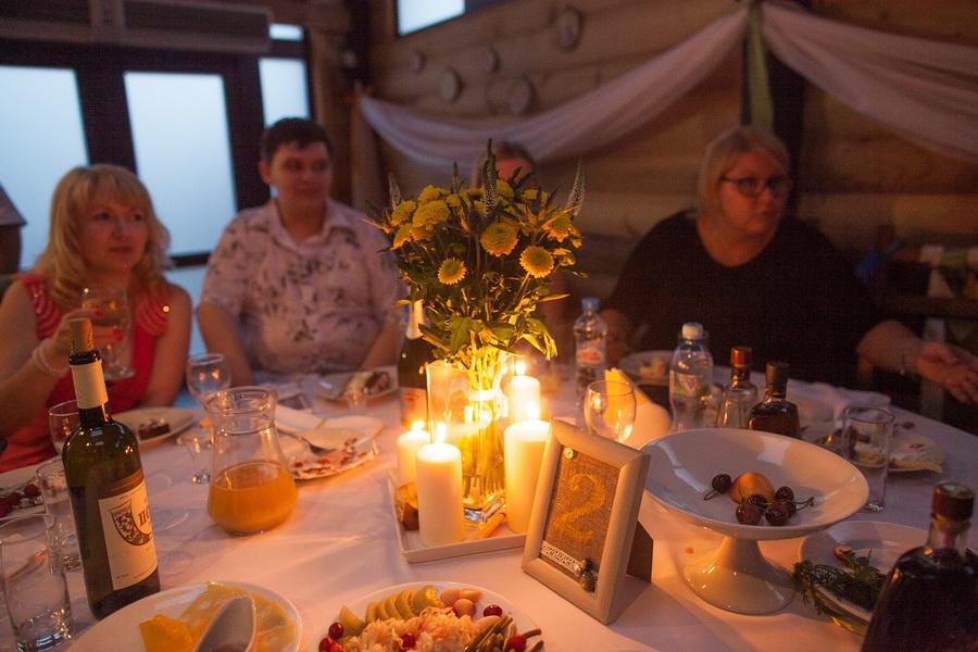 Украшение столов на свадьбе